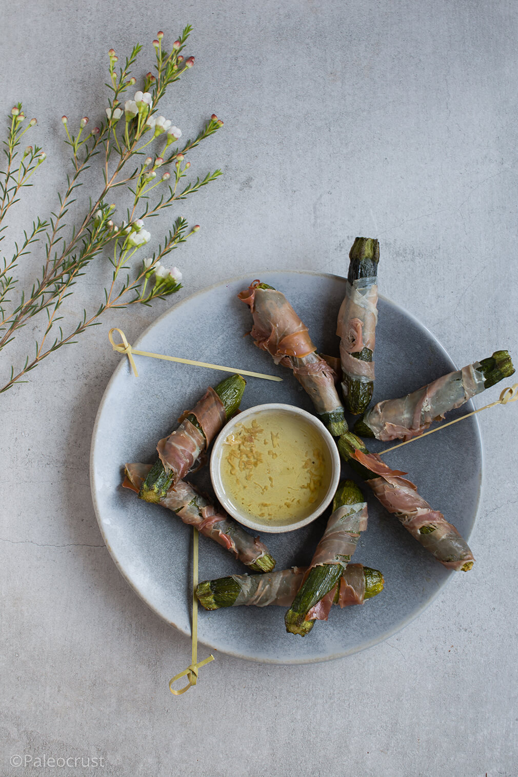 Courgettes in blankets, courgettes, pigs in blankets, Christmas food, food photography, Paleo Crust, free from food, finger food, healthy food