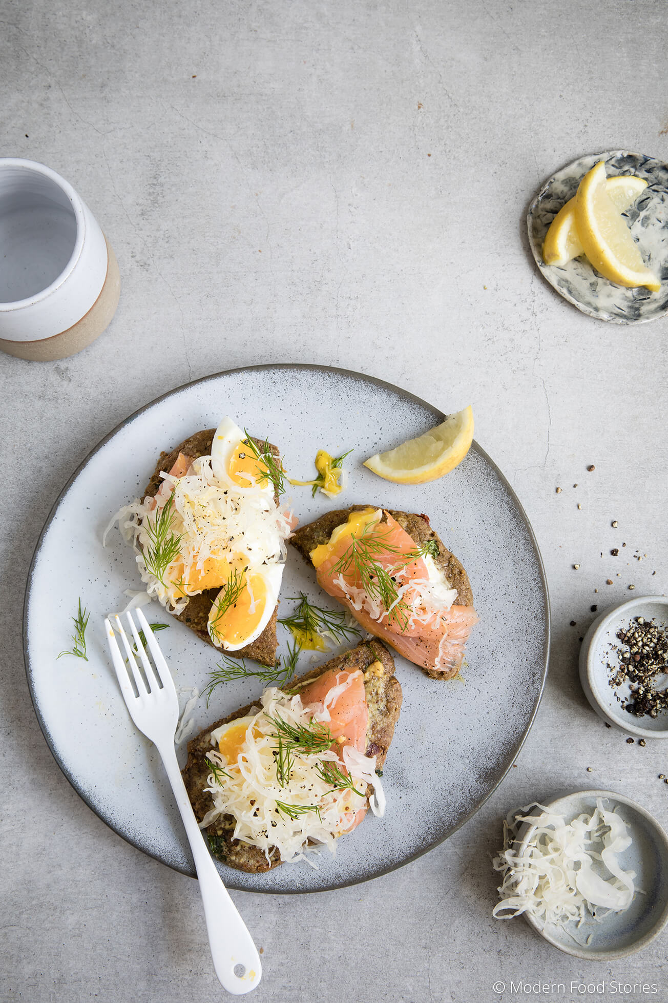 grain free chia breads, food photography, food styling, Modern Food Stories, Paleo Crust, Grain free bread, gluten free bread, Paleo breakfast, keto breakfast, low carb breakfast recipes, smoked salmon recipes, grain free bread recipe
